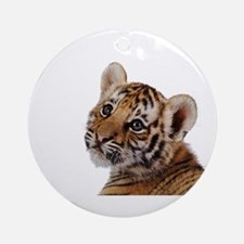 baby tiger Ornament (Round)