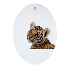 baby tiger Ornament (Oval)