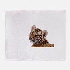 baby tiger Throw Blanket