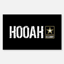 U.S. Army: Hooah (Black) Decal