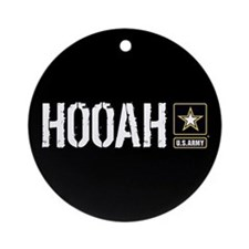 U.S. Army Hooah Ornament (Round)