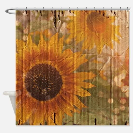 Cute Sunflowers Shower Curtain