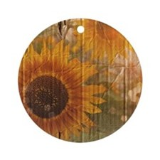 Funny Floral and botanical Round Ornament