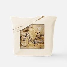 Unique Vintage bicycling Tote Bag