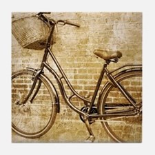 Cute Antique bicycle Tile Coaster