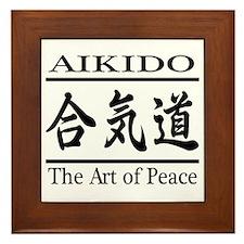 Art of Peace Framed Tile