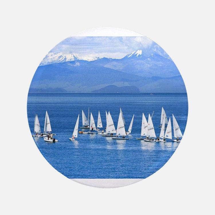 "nautical sailboats 3.5"" Button (100 pack)"