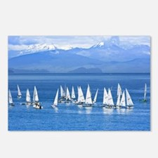 nautical sailboats Postcards (Package of 8)
