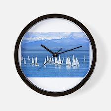 nautical sailboats Wall Clock