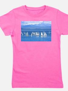 nautical sailboats Girl's Tee