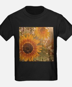 rustic western country sunflower T-Shirt