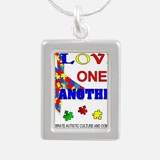 Autism Awareness Love one another Necklaces