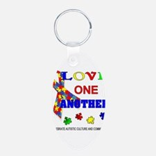Autism Awareness Love one another Keychains