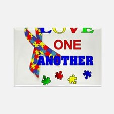 Autism Awareness Love one another Magnets