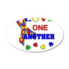 Autism Awareness Love one another Wall Decal