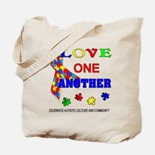 Autism Awareness Love one another Tote Bag