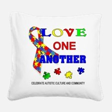 Autism Awareness Love one another Square Canvas Pi