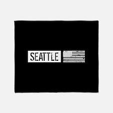 U.S. Flag: Seattle Throw Blanket