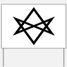 pop culture hexagram Aleister Crowley Yard Sign