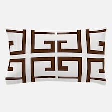 Brown Greek Tiles Pillow Case