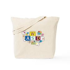 W A S D Moves me Tote Bag