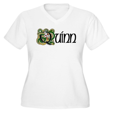 Quinn Celtic Dragon Women's Plus Size V-Neck T-Shi