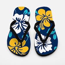 Navy-yellow-light blue-white Hawaiian Hibiscus Fli