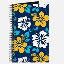 Navy-yellow-light blue-white Hawaiian Hibiscus Jou
