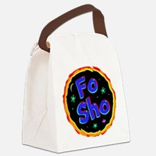 fo sho Canvas Lunch Bag