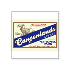 "Cute Canyonlands Square Sticker 3"" x 3"""