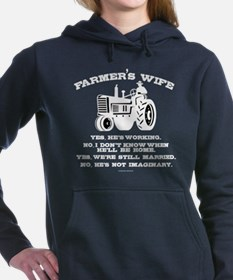 Farmer's Wife Joke Women's Hooded Sweatshirt