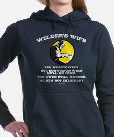 Welder's Wife Humor Women's Hooded Sweatshirt