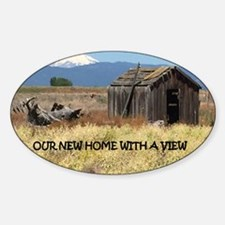 New Home with a View Sticker (Oval)