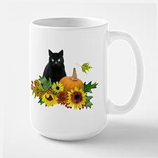 Fall Cat Large Mug