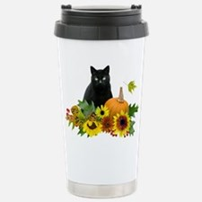 Fall Cat Stainless Steel Travel Mug