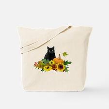 Fall Cat Tote Bag