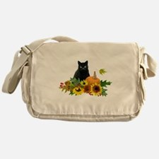 Fall Cat Messenger Bag