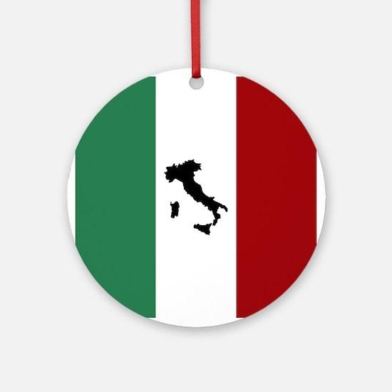 Italian Flag & Boot Ornament (Round)