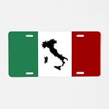 Italian Flag & Boot Aluminum License Plate
