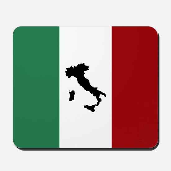 Italian Flag & Boot Mousepad