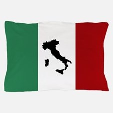 Italian Flag & Boot Pillow Case
