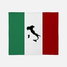 Italian Flag & Boot Throw Blanket