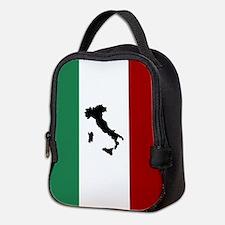 Italian Flag & Boot Neoprene Lunch Bag