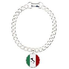 Italian Flag & Boot Bracelet