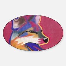 Coyote  Sticker (Oval)