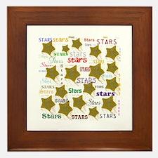 Stars, Lots Of Em. Stars. Framed Tile