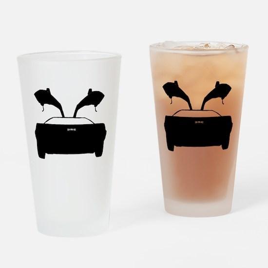 DMC 12 Black Drinking Glass