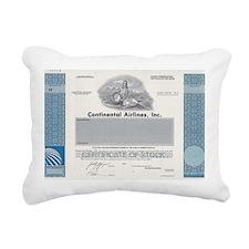 Continental Airlines Rectangular Canvas Pillow