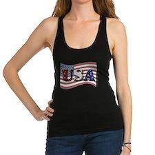 U.s. Flag Racerback Tank Top