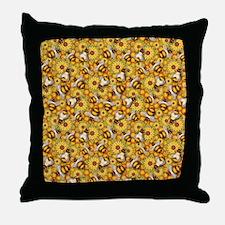 Honeybees Throw Pillow